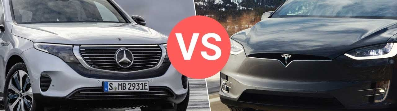 Mercedes-Benz EQC vs. Tesla Model X: Battle of the Electric SUVs