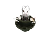000000-000977 OES Instrument Panel Light; Dashboard/Instrument Bulb; Clear Glass with Green Socket Base; 12V-1.3W
