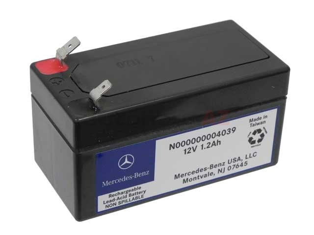 000000004039 Genuine Mercedes Battery; 1.2Ah, Backup Battery Under Passenger Seat