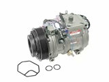 0002300611 Denso AC Compressor; Complete with Clutch/6 Groove Pulley; R134A Type; New