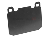 0004210196 Genuine Mercedes Disc Brake Pad Shim; Front; Large