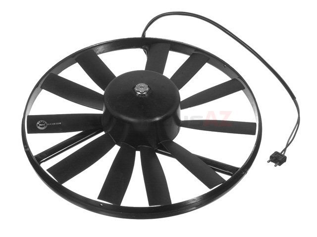 0005007993MY Meyle Engine Cooling Fan Assembly; Complete Fan Assembly (Motor with Blades); 15 Inch Fan