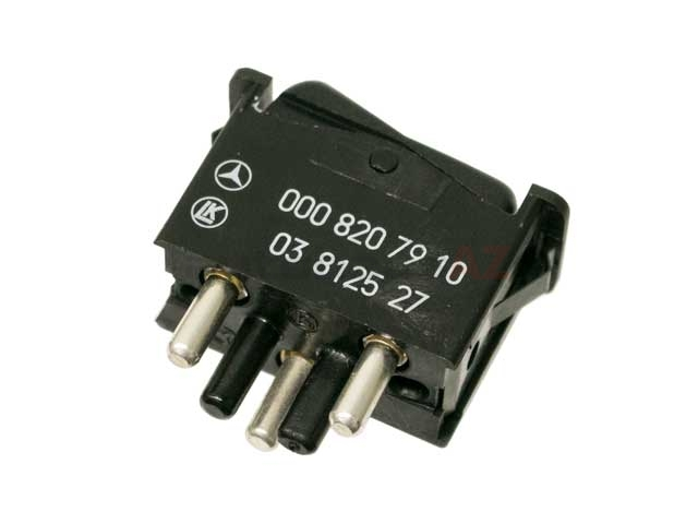 0008207910 Genuine Mercedes AC/Heater Control Switch; On/Off Rocker Switch for Climate Control