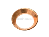 0008356798 Santech O-Ring/Gasket/Seal; AC Line Copper Seal; Dished Shape; 12.5mm ID/19mm OD