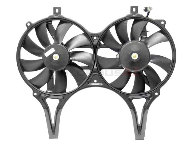 0015003893 ACM Engine Cooling Fan Assembly; Complete Dual Fan Assembly (Motor with Blades)