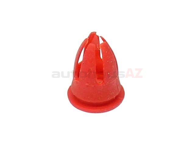 0019882081 O.E.M. Molding Retainer; Red Fender and Door Moulding Clip Retainer