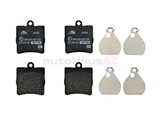 0024207120 ATE Brake Pad Set; Rear; OE Compound
