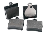 0024207420 ATE Brake Pad Set; Rear with 1 Pin Retainer and without Sensor Slot; OE Compound