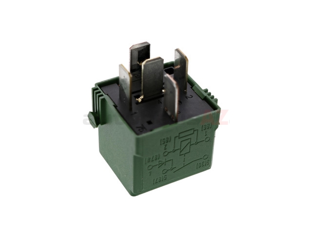 0025427619 Genuine Mercedes Multi Purpose Relay; 5 Prong, Green