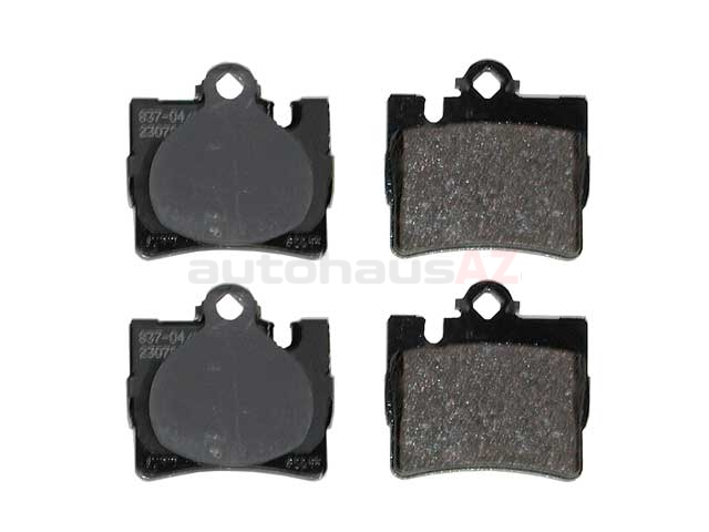 0034201920 Jurid Brake Pad Set; Rear; OE Improved Compound