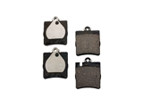 0034202820OE Genuine Mercedes Brake Pad Set; Rear with 1 Pin Retainer