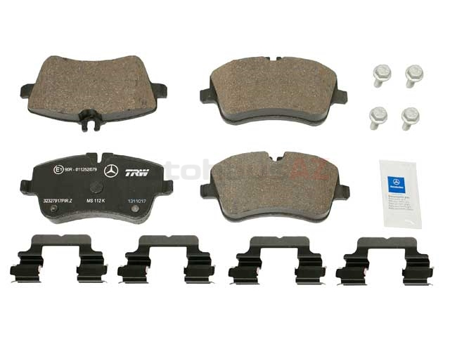 0034209520OE Genuine Mercedes Brake Pad Set; Front