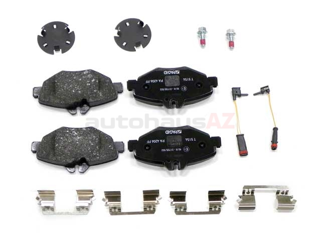 0034209920 Pagid Brake Pad Set; Front; OE Compound