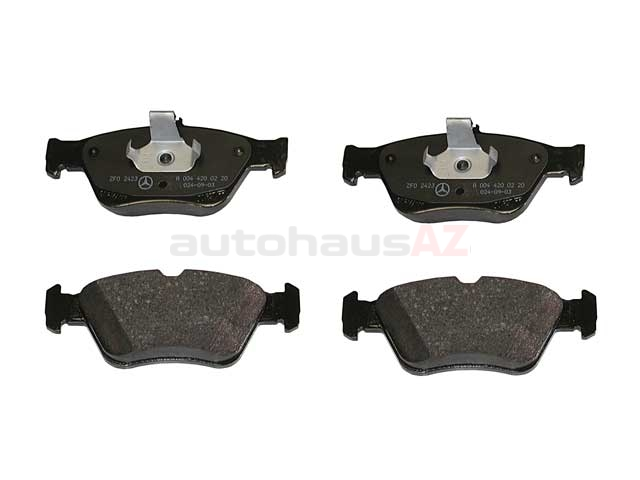 0044200220 Genuine Mercedes Brake Pad Set; Front