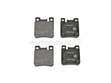 0044201620OE Genuine Mercedes Brake Pad Set; Rear; With Sensor Slot