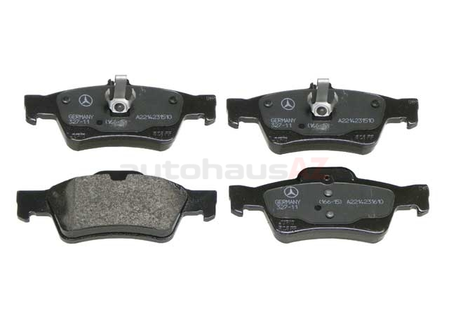 0044204420OE Genuine Mercedes Brake Pad Set; Rear