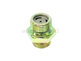 0049971872 Genuine Mercedes Vacuum Power Check Valve; Vacuum Line Fitting with Check Valve at Vacuum Pump Outlet