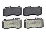 0054208520 Textar Brake Pad Set; Front, OE Compound