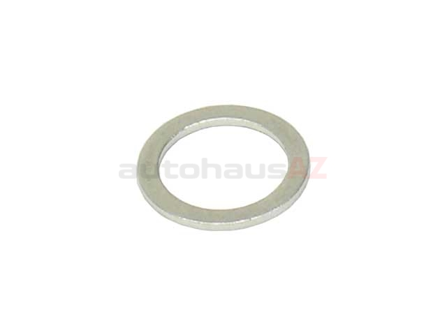 007603-010100 Fischer & Plath Metal Seal Ring / Washer; 10x14x1mm; Aluminum