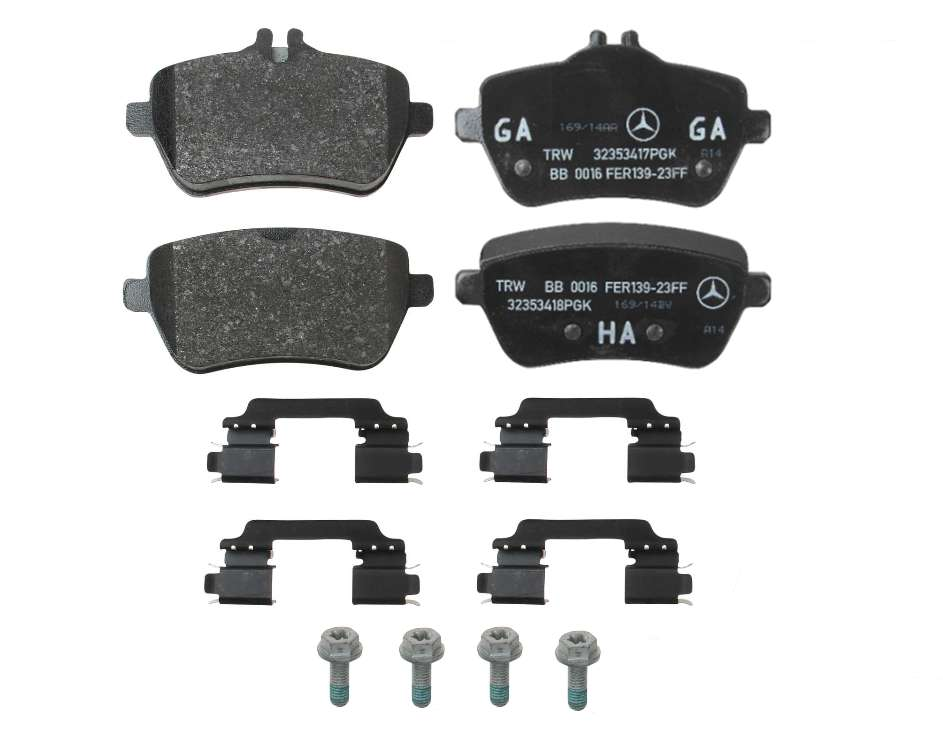 0084203420 Genuine Mercedes Brake Pad Set; Rear
