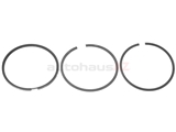 026198151A Goetze Piston Ring Set; Standard 81.00mm (With One Piece Oil Ring)