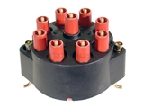 03120 Bosch Distributor Cap; With Threaded Stud Wire Connectors; Black Plastic Cover