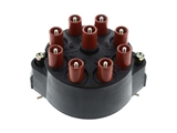03174 Bosch Distributor Cap; Threaded Stud Wire Connectors; Black Plastic Cover