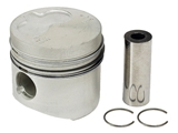068107091D Kolbenschmidt Piston w/Rings; 4th Oversize (+1.0mm) 77.50mm; With Rings