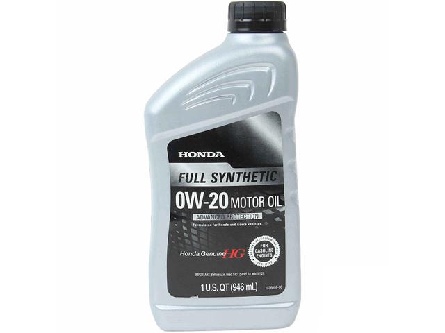Genuine Honda 087989063 Engine Oil; 0W-20 Full Synthetic
