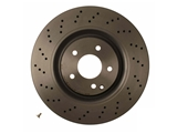 09A73111 Brembo Disc Brake Rotor; Front; CrossDrilled Vented 345x30mm