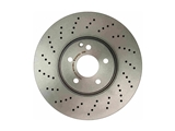 09A82811 Brembo Disc Brake Rotor; Front; Vented; Cross-Drilled 330 x 32mm