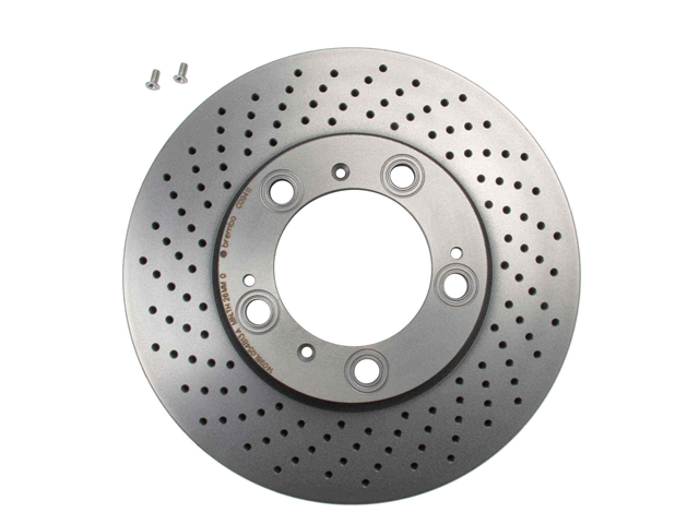 09C09411 Brembo Disc Brake Rotor; Front Left; Directional