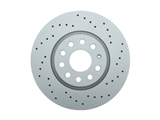 100330052 Zimmermann Sport Disc Brake Rotor; Front; Vented Cross-Drilled 312MM
