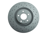 100332652 Zimmermann Sport Disc Brake Rotor; Front Cross-Drilled