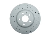 100333152 Zimmermann Sport Disc Brake Rotor; Front; Cross-Drilled; 320mm