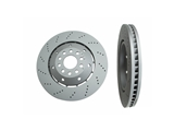 100333970 Zimmermann Disc Brake Rotor; Front Left; Directional