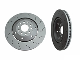 100334070 Zimmermann Disc Brake Rotor; Front Right; Directional