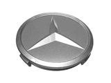 1074000025 Genuine Mercedes Wheel Center Cap/Emblem; Gray Star Center Cap; For Alloy Wheels