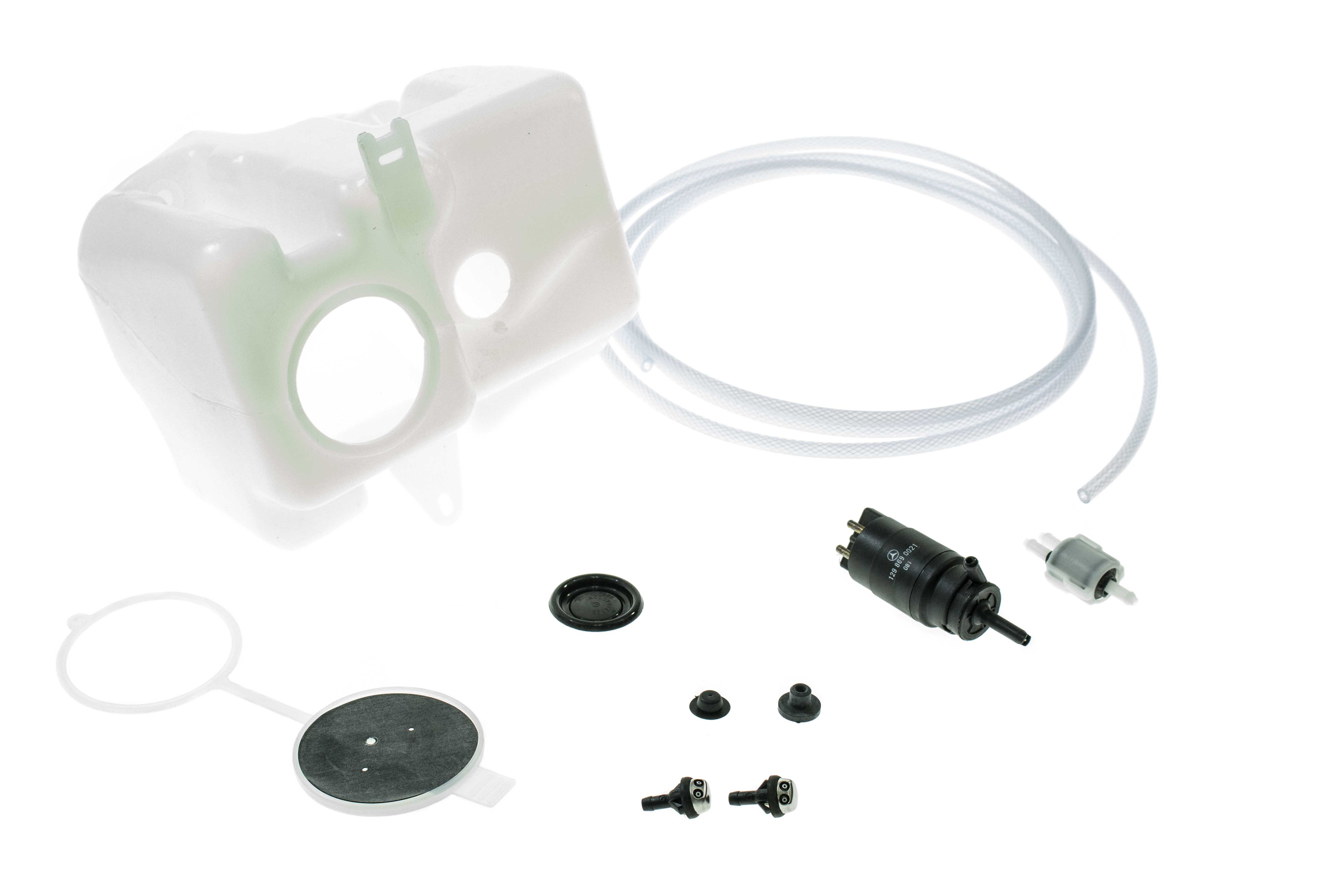 107WWKIT AAZ Preferred Windshield Washer Fluid Reservoir; Reservoir, Cap, Pump, Nozzles and Hose; KIT
