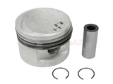 11251714810 Mahle Piston; Oversize 0.50mm with Rings; 84.480mm