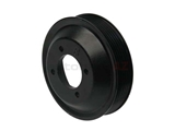 11511436590URO URO Parts Premium Water Pump Pulley; 132mm; Black Anodized Aluminum