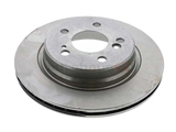 1244231012 ATE Coated Disc Brake Rotor; Rear; Vented
