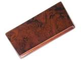 126-BURLCAD URO Parts Console Cover; Burl Wood