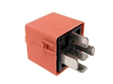 12631742690 Genuine BMW Multi Purpose Relay; Changeover Relay; Salmon Red with 5 Prong Connector