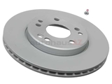1294210312 ATE Coated Disc Brake Rotor; Front; Vented 284x22mm