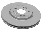 1294211012 ATE Coated Disc Brake Rotor; Front; Vented 300mm Diameter