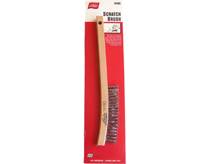 scale Lisle Scratch Brush 14160 Removes rust paint and solder from metal