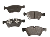 1644201820 Genuine Mercedes Brake Pad Set; Front; Updated Version, Slotted Outboard Pads