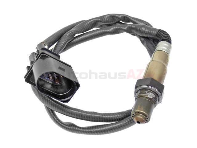17175 Bosch Oxygen Sensor; Before Catalytic Converter, Front Manifold; OE Version, Five Wire Wideband A/F Sensor; 990mm