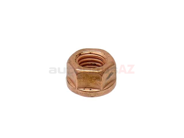 18301737774 O.E.M. Exhaust Nut; Copper Lock Nut; Exhaust Manifold Outlet; 10mm